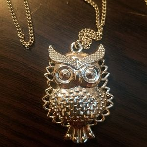 Long owl necklace